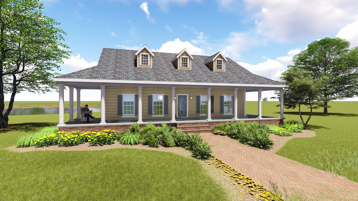 Graceful Southern Home With Wrap Around Porch 2597dh