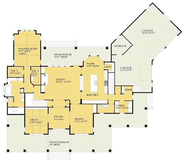 Graceful 4 Bedroom Farmhouse Plan - 15094NC ...