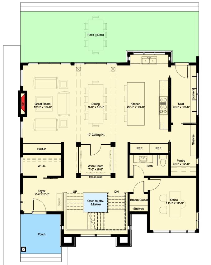 . Plan 64100CAL  Exclusive 3 Level Modern Home Plan