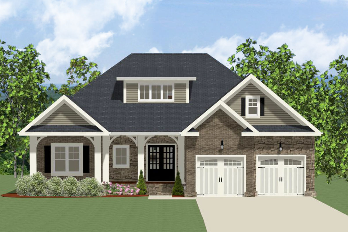 House Plan With Graceful Arches On The Front Porch