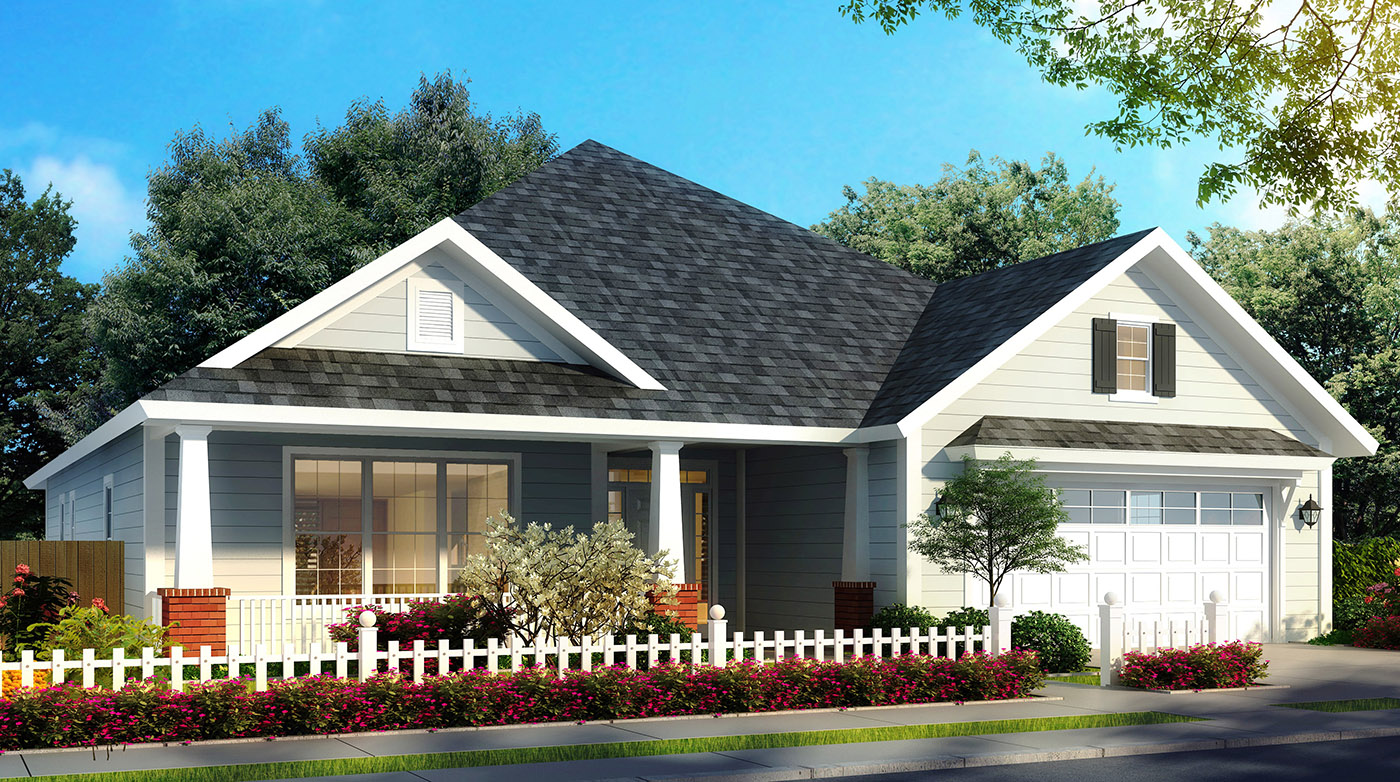 Southern House Plan with Open Layout - 52273WM ...