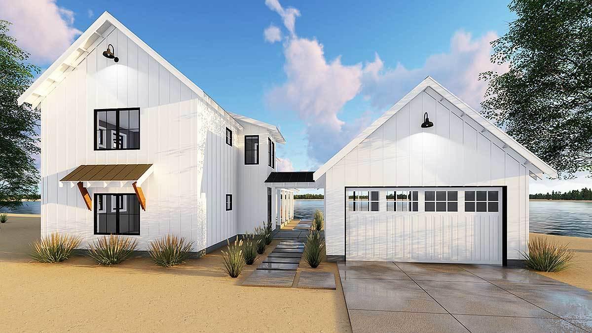 Ranch Breezeway Between House And Detached Garage Designs on