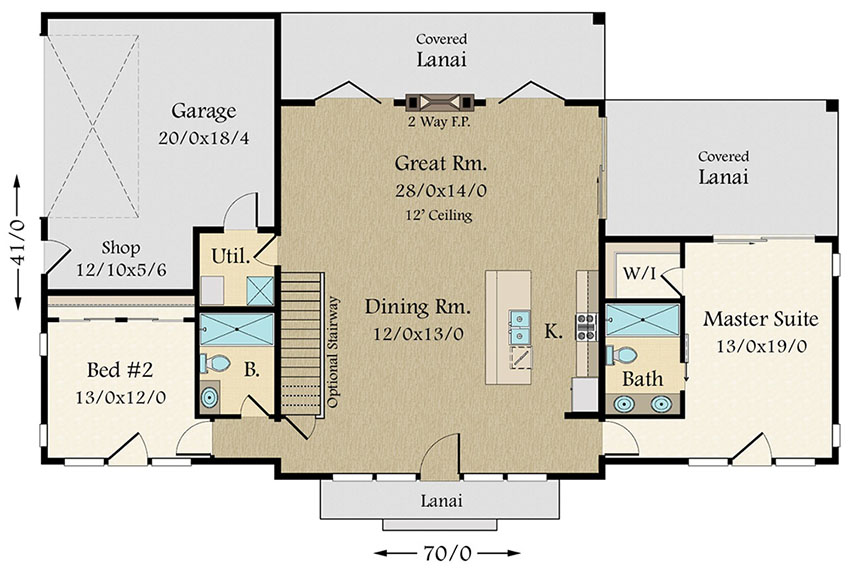 Exclusive Modern House Plan With Split Bedroom Layout 85132ms