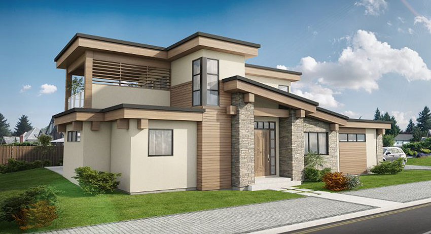 Exciting Contemporary House Plan - 67727MG