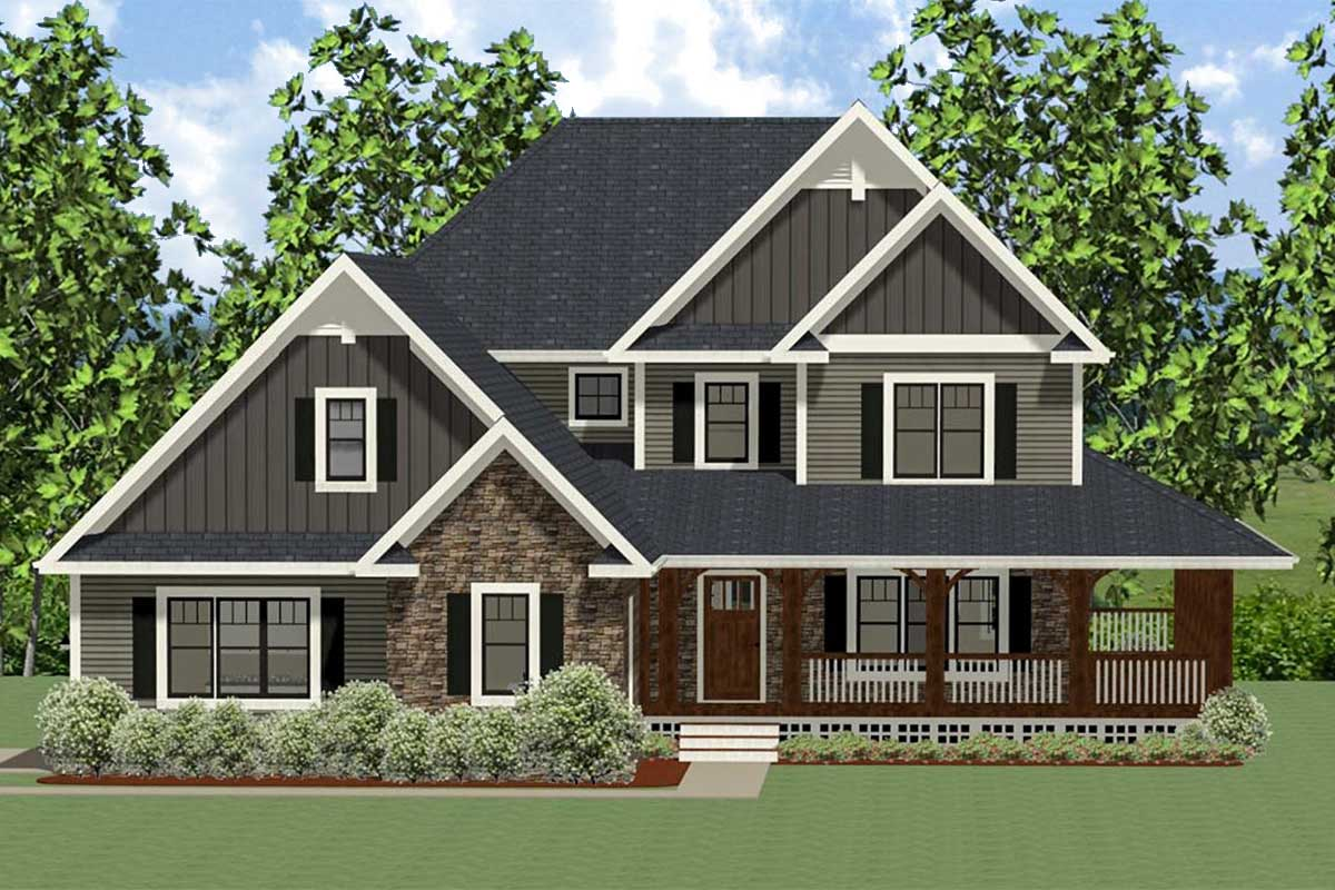 house with wrap around porch southern house plan with wrap around porch 46299la architectural designs house plans 2389