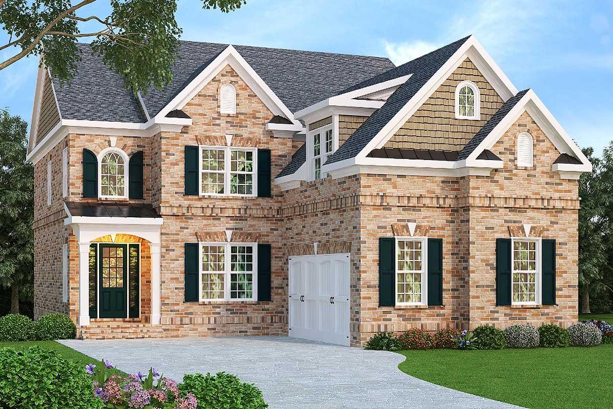 Luxurious Narrow Lot Plan with Courtyard Garage - 75589GB ...