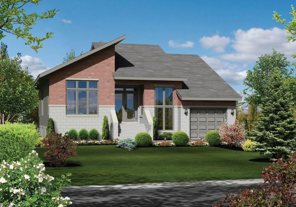 One Level Contemporary House Plan - 80891PM ...