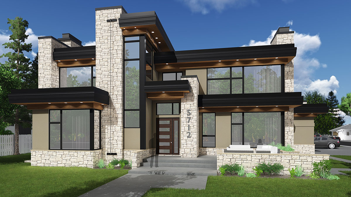 Impeccable Modern House Plan - 81687AB