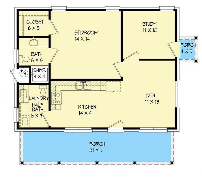 Plan 68435VR: Economical Ranch House Plan on
