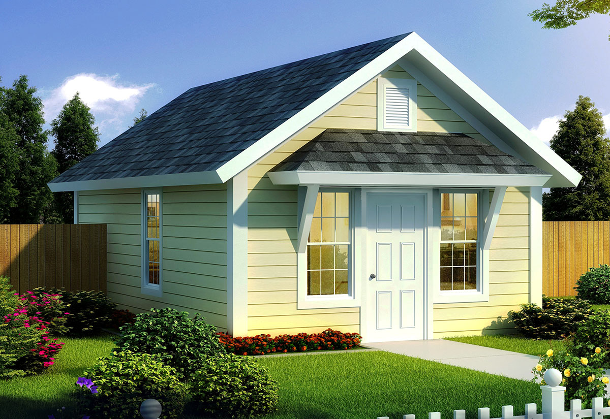 Compact Tiny Cottage - 52283WM | Architectural Designs ...