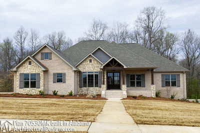 House Plan 70530MK comes to life in Alabama - photo 002