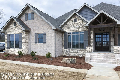 House Plan 70530MK comes to life in Alabama - photo 003