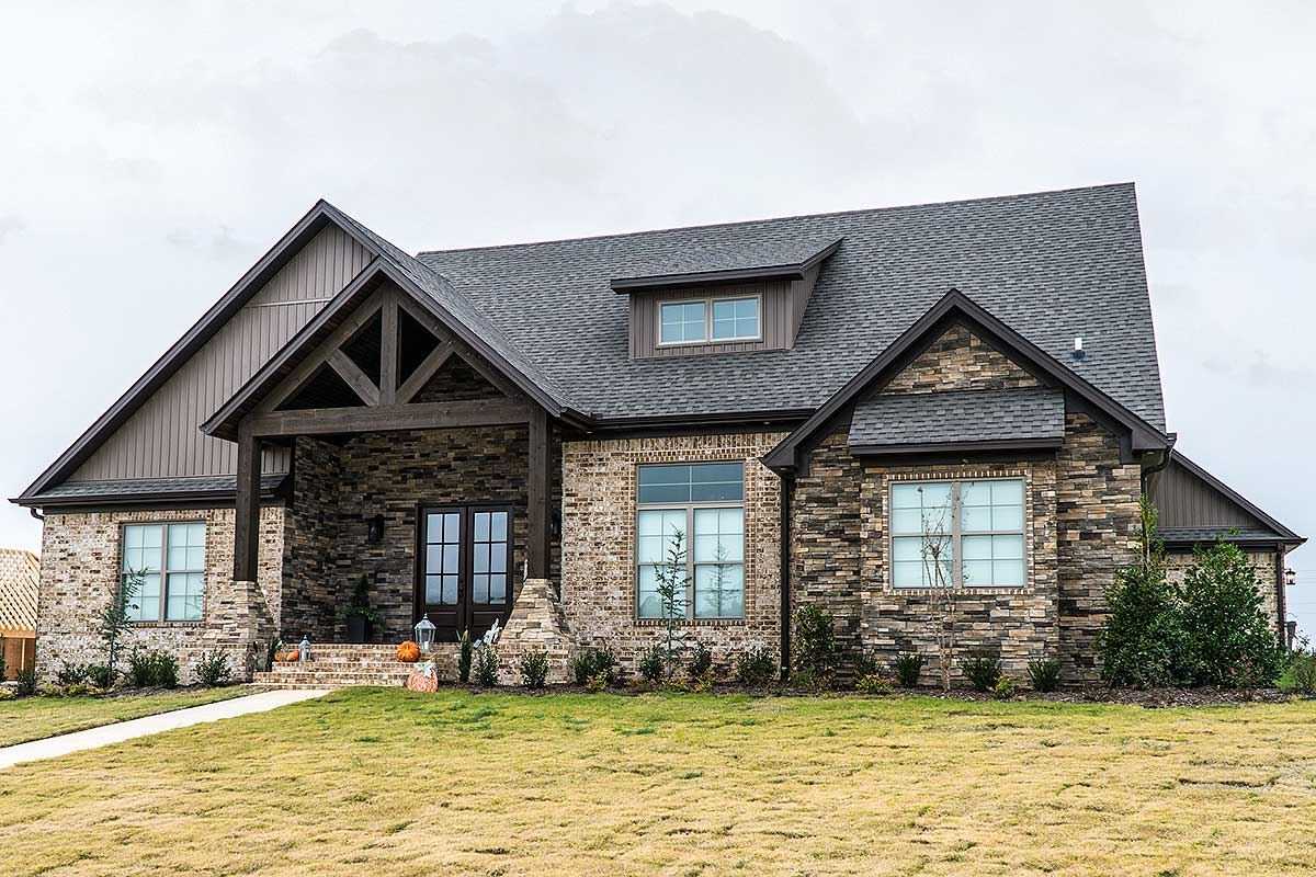 Five Bedroom Rustic House Plan - 70532MK | Architectural ...