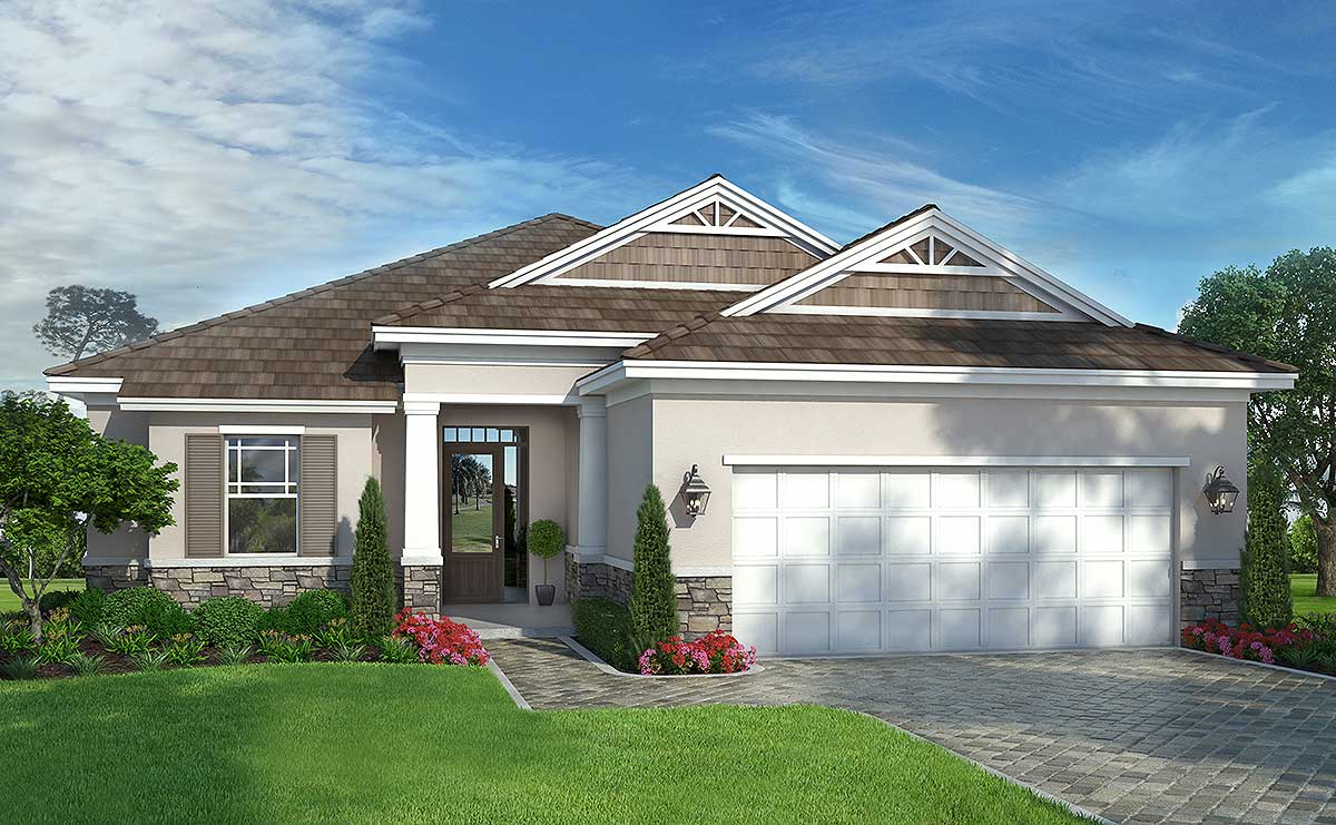Energy-Efficient One Story House Plan with 3 or 4 Bedrooms ...