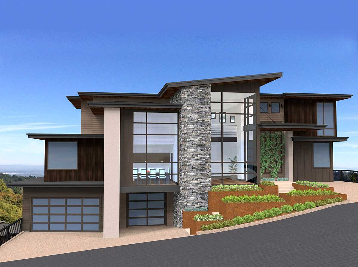 Exclusive and Unique Modern House Plan - 85152MS ...