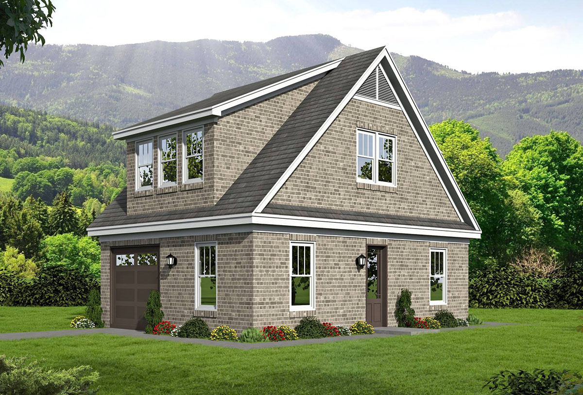 Detached Garage With Rec Room And Office 68447vr