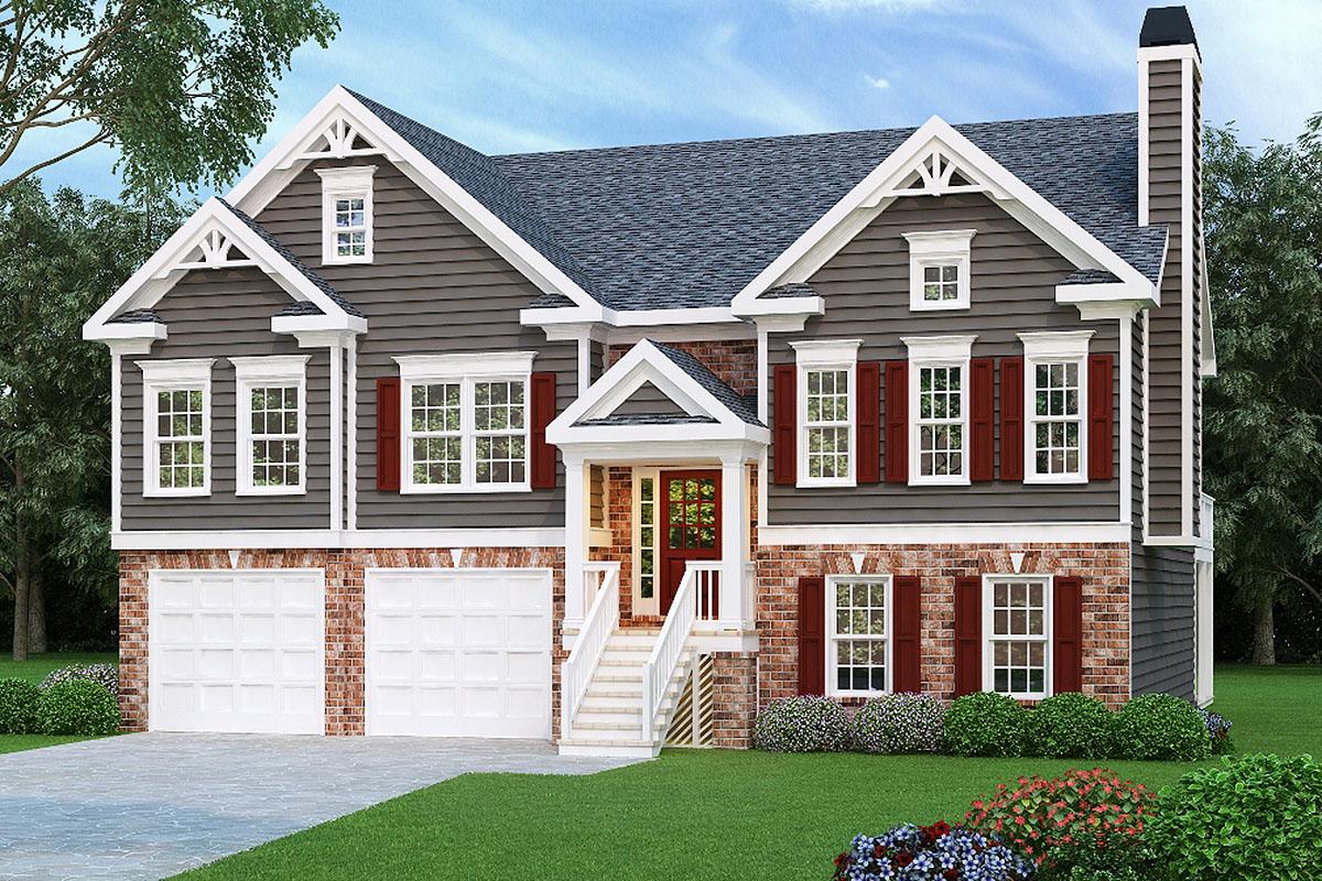 Craftsman Split Level House Plan 75603gb Architectural