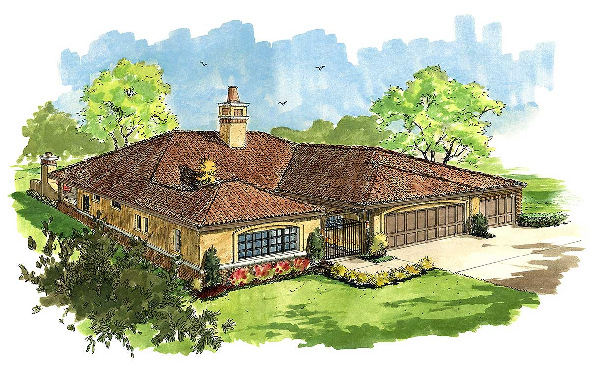 12952kn_1479920983 Rambler House Plans Bedroom on simple small house floor plans, country style house plans, beach house plans, modern house plans, cottage style house plans, small rustic house plans, single story craftsman house plans,