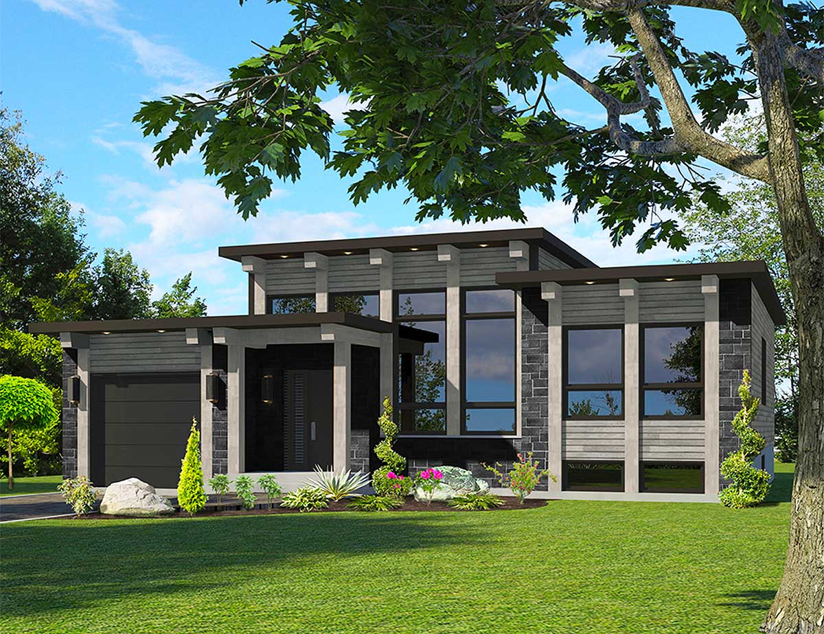 Attractive Modern House Plan - 90286PD | Architectural ...