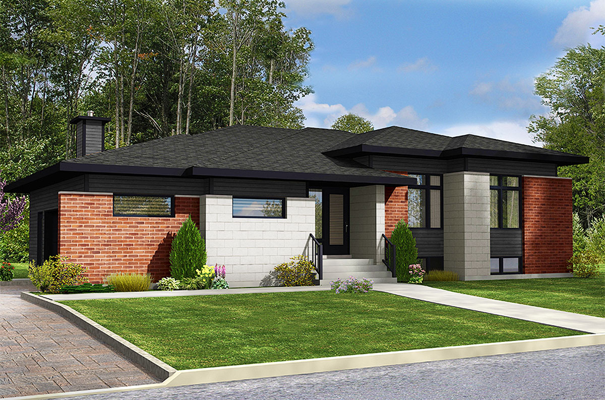 3 Bed Modern Ranch Home Plan - 90291PD | Architectural ...