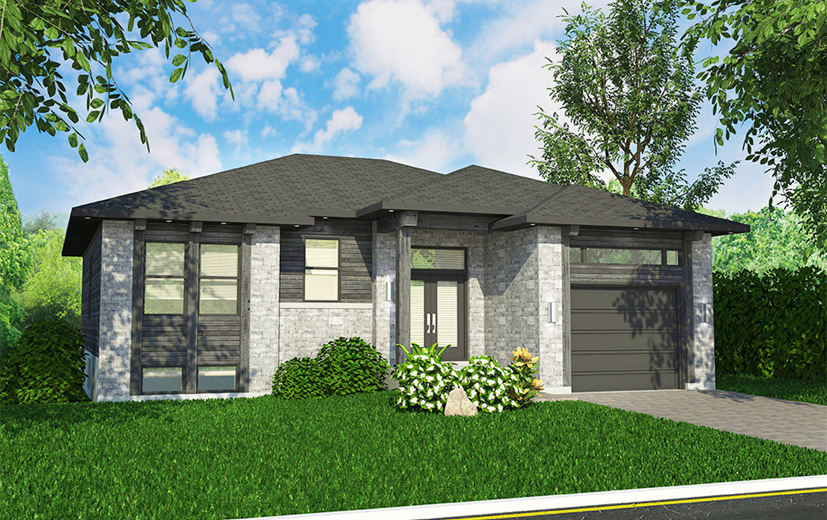 Split Level Contemporary House Plan - 90295PD ...