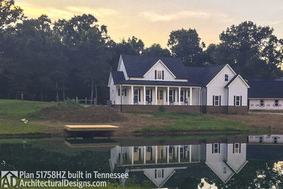 Farmhouse Plan 51758HZ comes to life in Tennessee! - photo 002