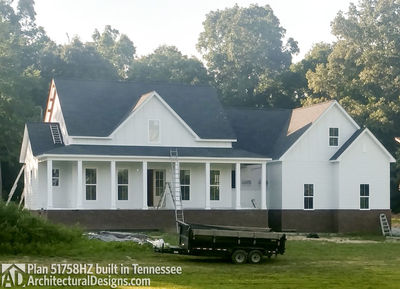 Farmhouse Plan 51758HZ comes to life in Tennessee! - photo 003