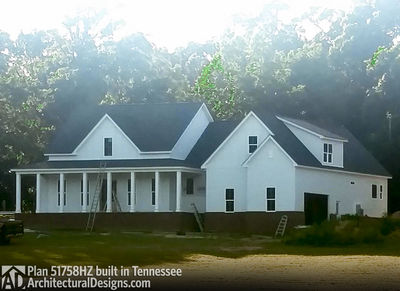Farmhouse Plan 51758HZ comes to life in Tennessee! - photo 004