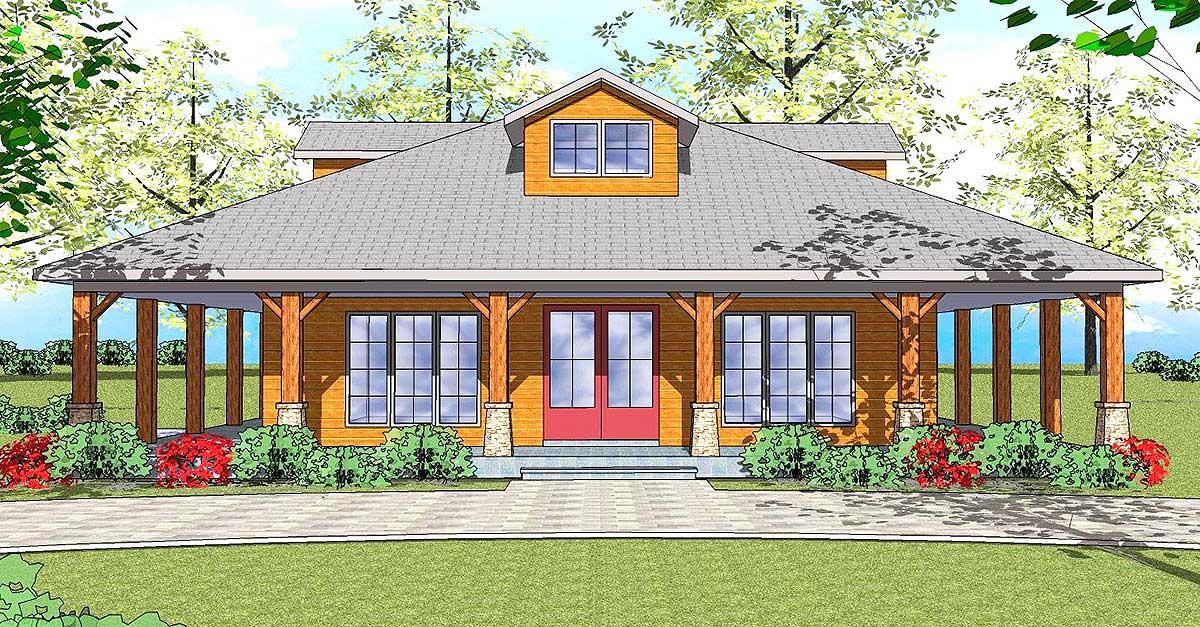 Two Bedroom Craftsman Cottage - 530005UKD   Architectural ...