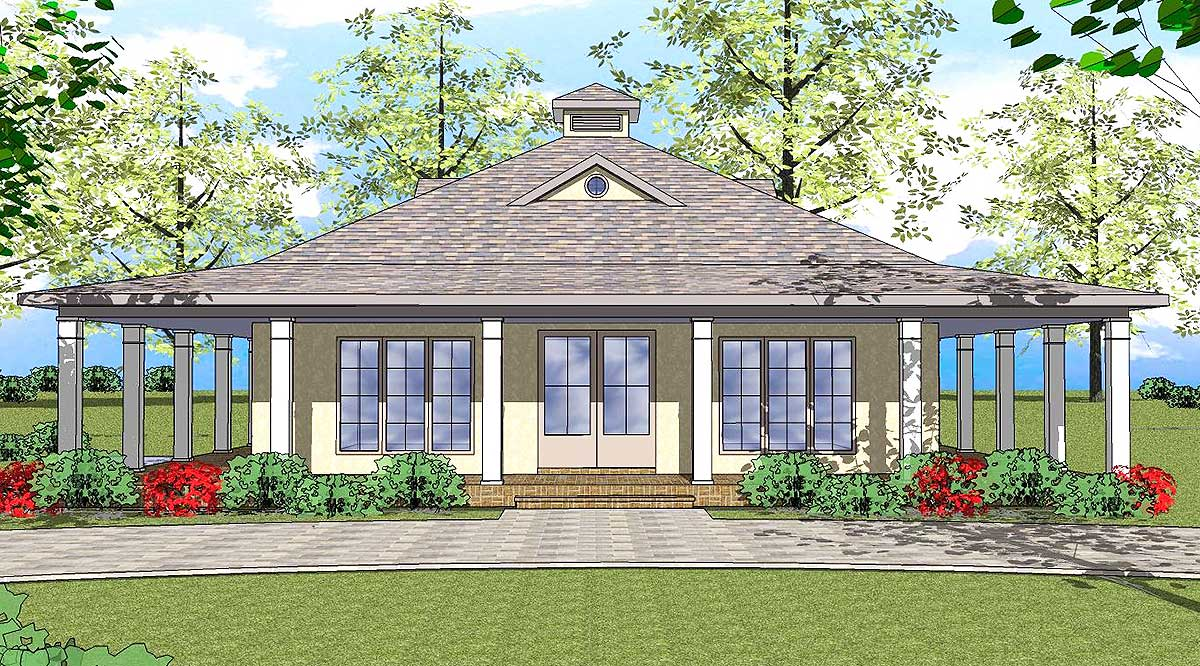 Two Bedroom Southern Cottage 530004ukd Architectural Designs House Plans