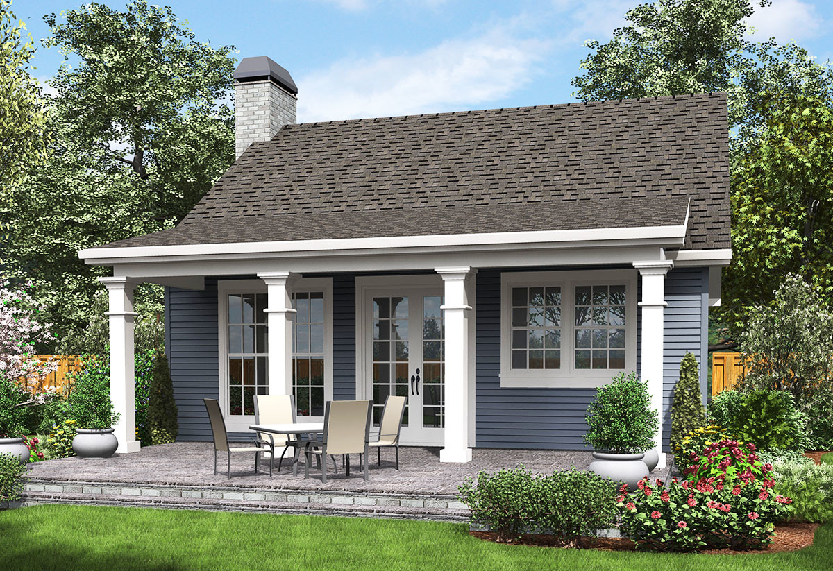 One Bedroom Guest House 69638am Architectural Designs House Plans