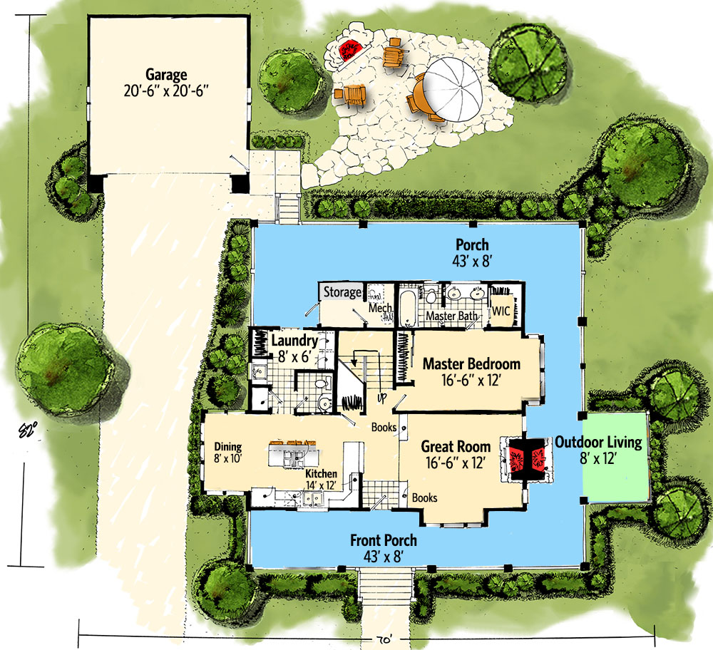 Clic Country Farmhouse House Plan