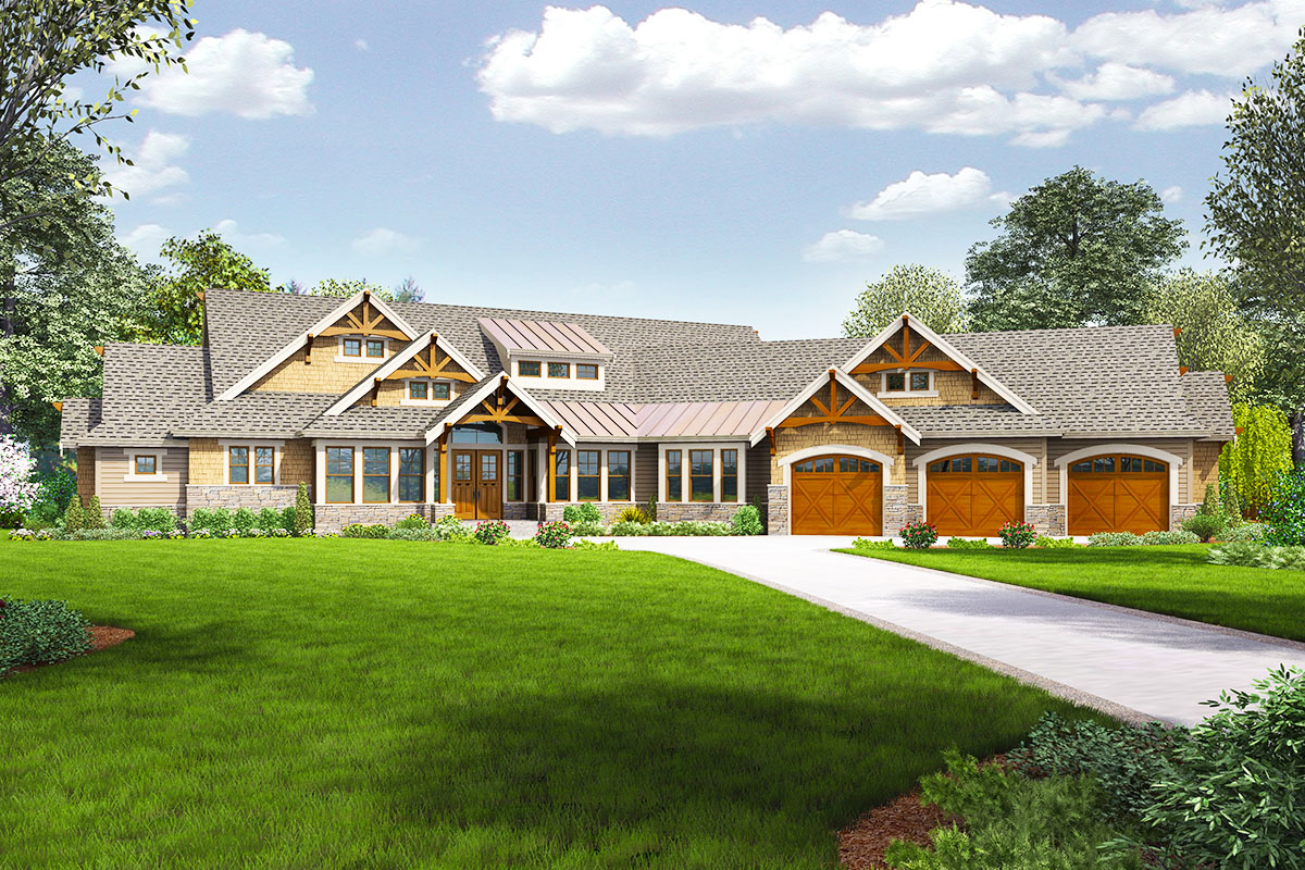 4 Bed Craftsman With Dynamic Floor Plan 23681jd