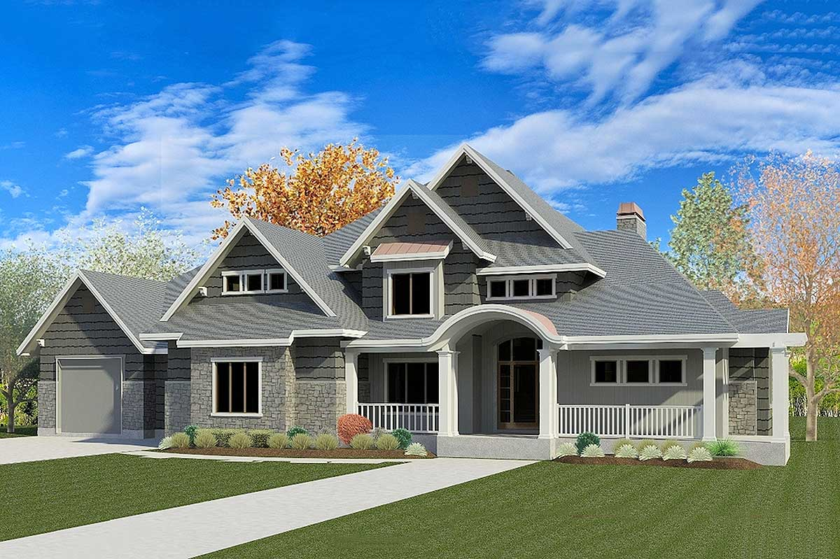 Exciting Traditional House Plan with Optional Sports Court ...