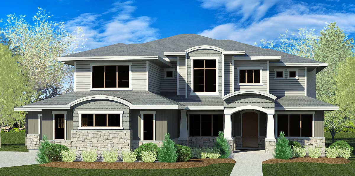 Two-Story House Plan with Six Bedroom Potential - 290028IY ...
