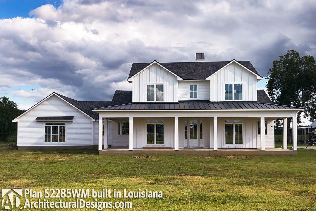 Budget Friendly 4 Bed Country Farmhouse, Country Farm House Plans