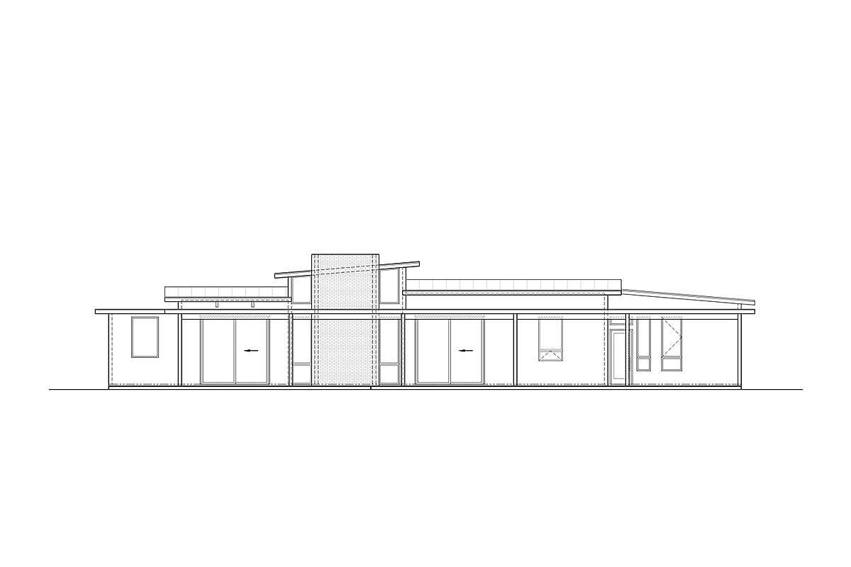 Picture of: Mid Century Modern House Plan With Courtyard 430010ly Architectural Designs House Plans