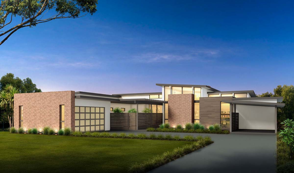 Mid century modern house plan with courtyard 430010ly architectural designs house plans