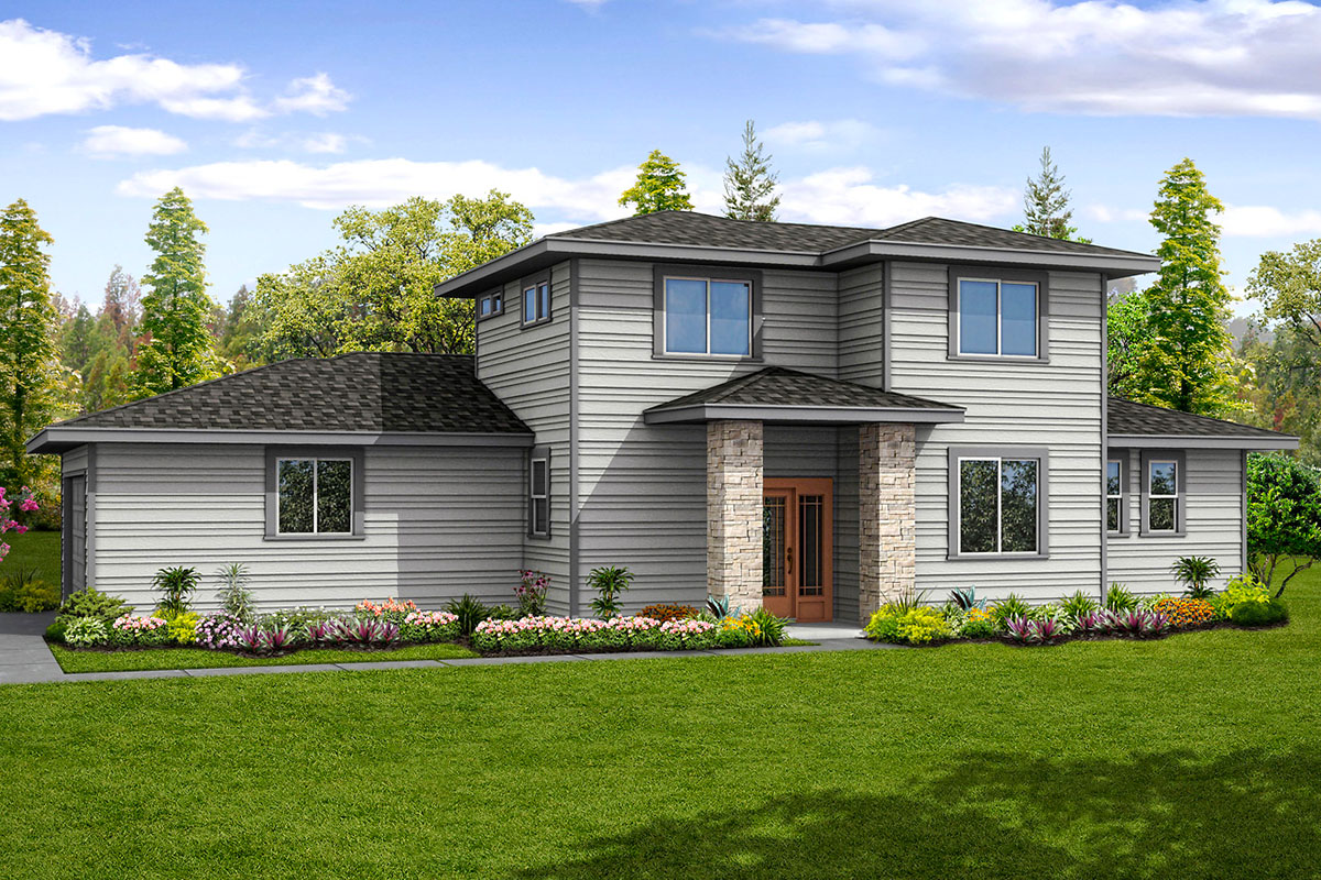 Open Concept Contemporary House Plan - 72871DA ...
