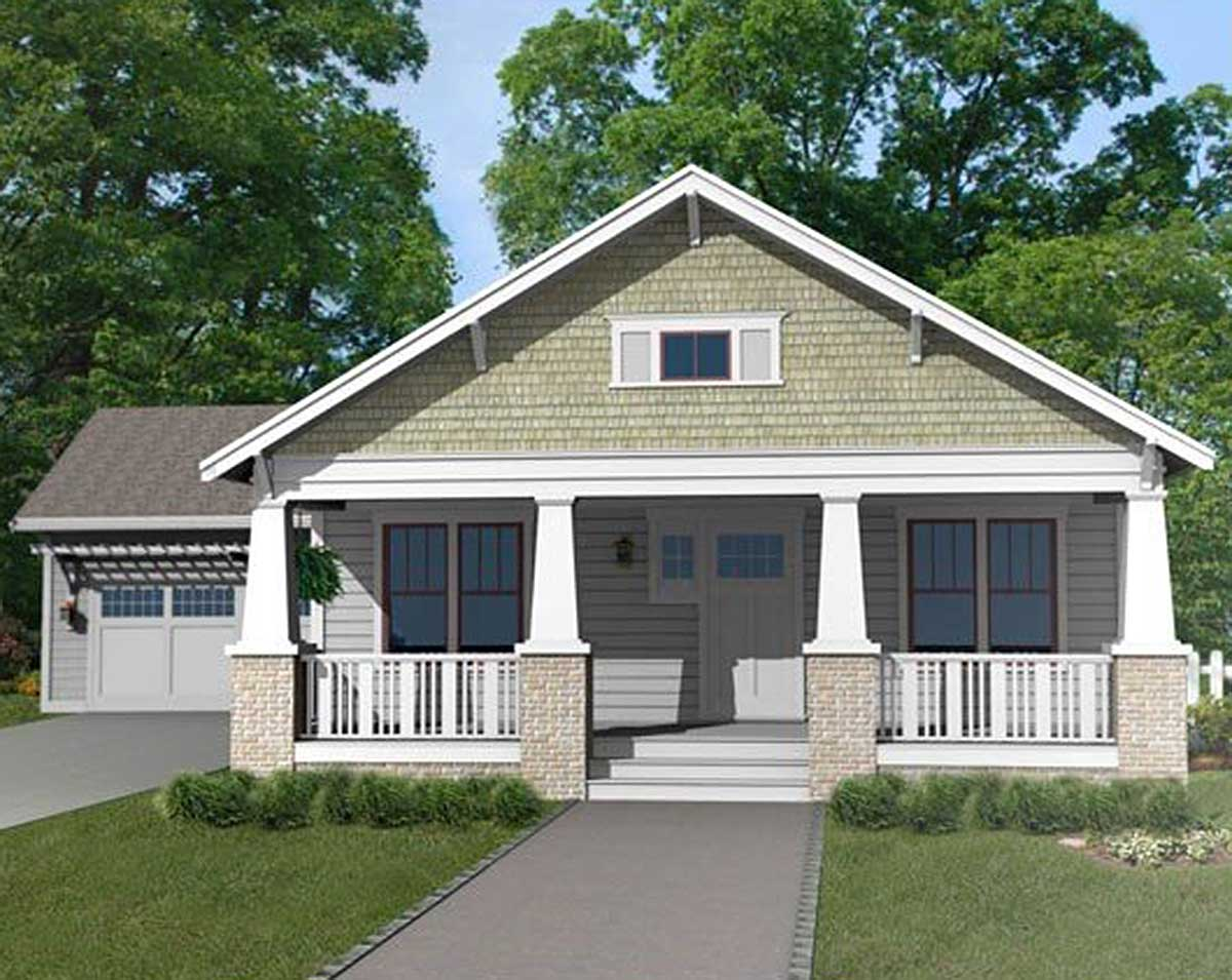 Craftsman Bungalow With Attached Garage