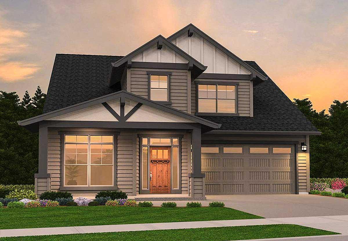 Northwest House Plan with Second Floor Loft - 85163MS ...