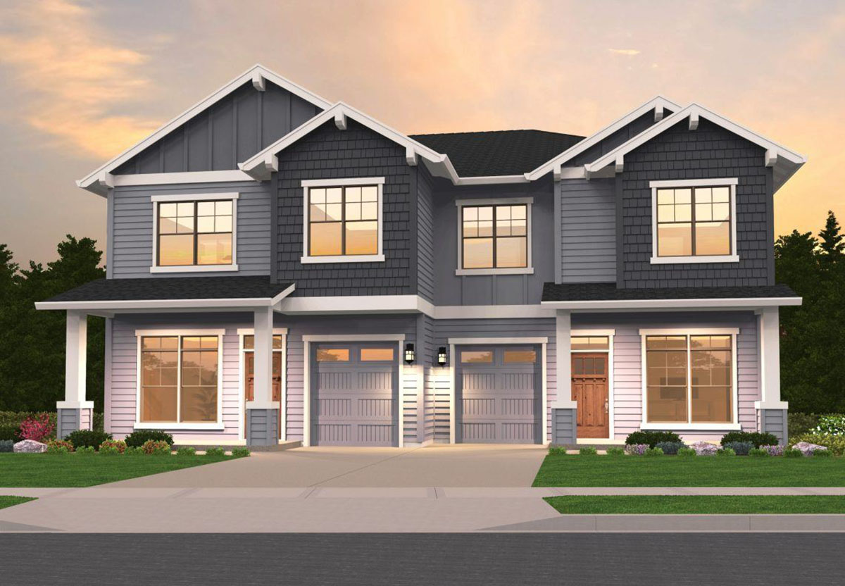 Craftsman Duplex 85162ms Architectural Designs House
