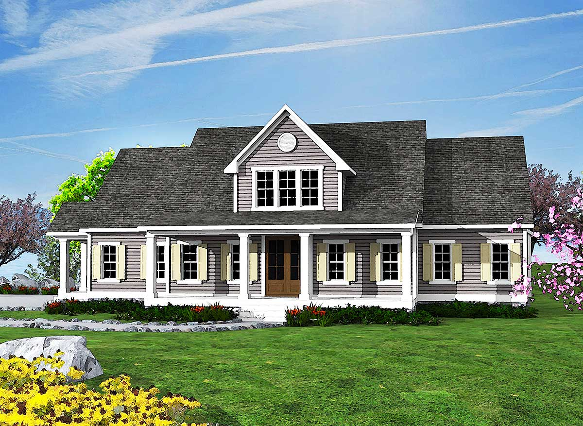 Inviting Country House Plan - 500014VV | Architectural ...
