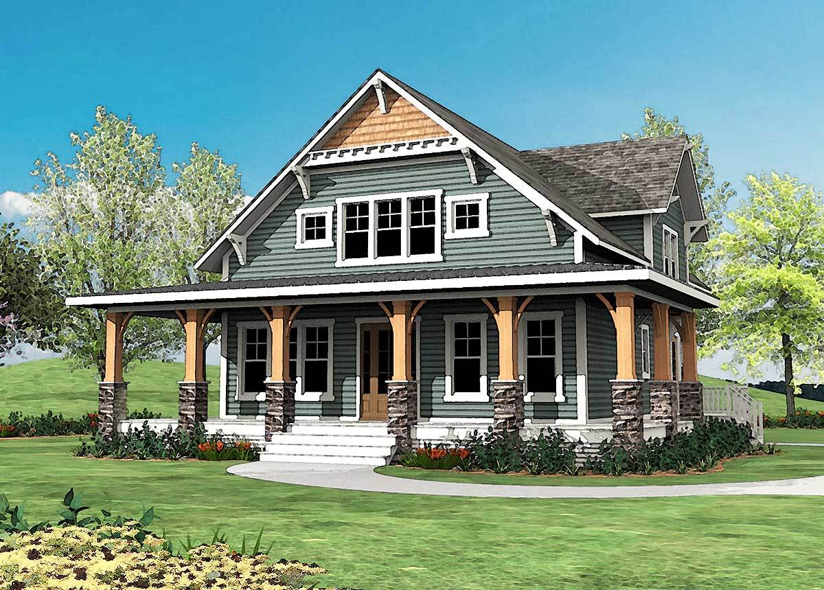 Craftsman with wrap around porch 500015vv architectural designs house plans