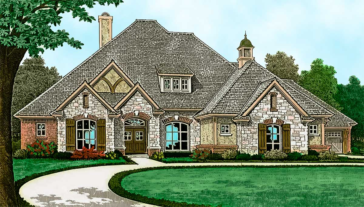 French Country House Plan With 10 High Ceilings 48564fm