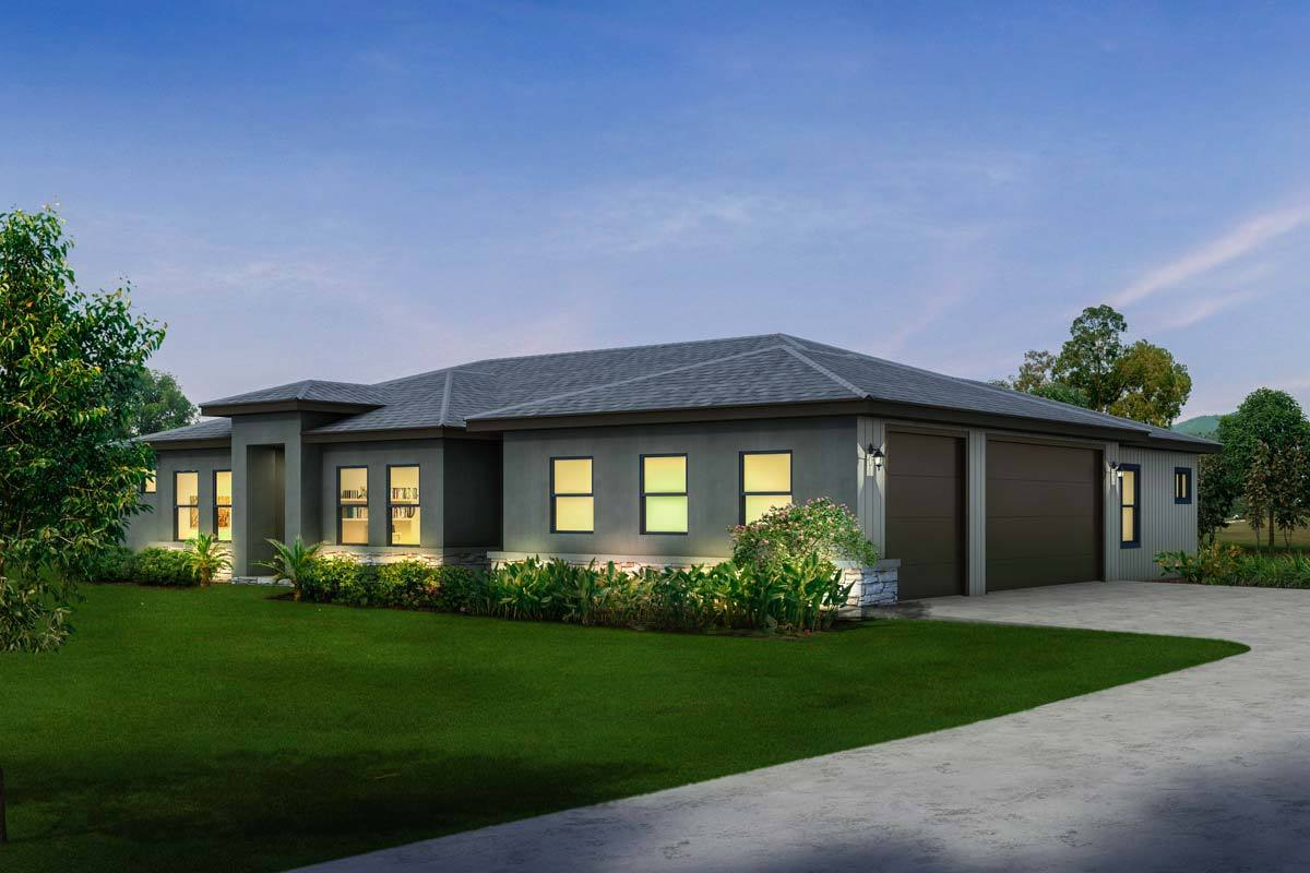 Contemporary ranch with 3 car side load garage 430016ly architectural designs house plans