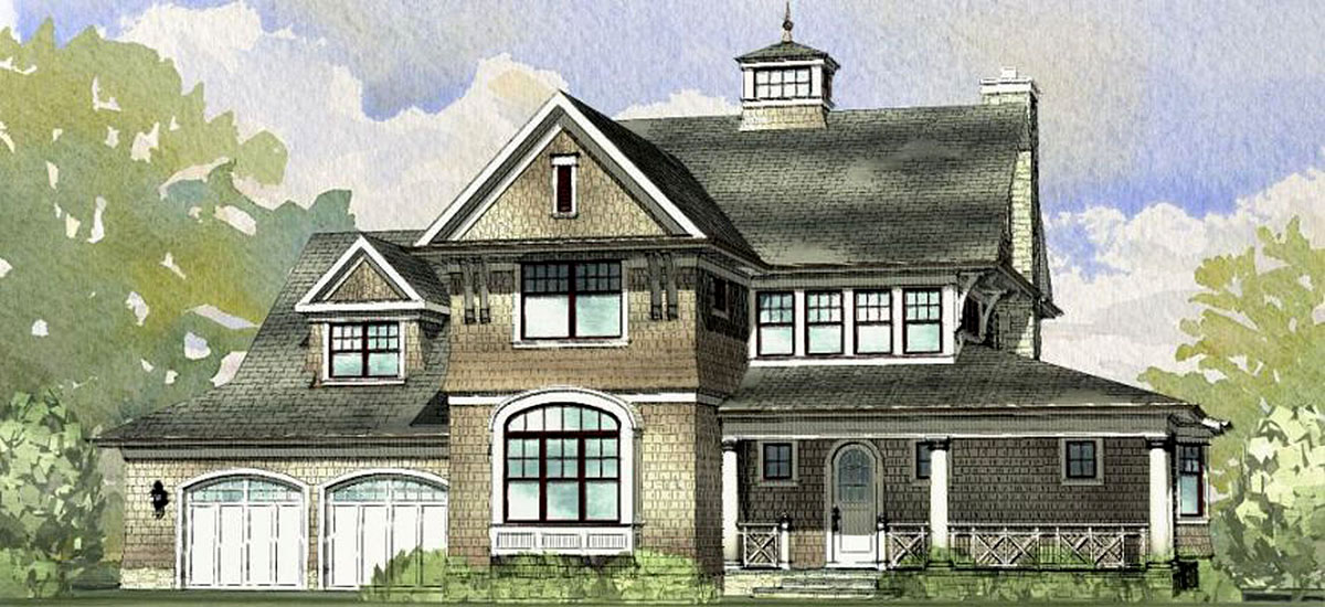 Classic Shingle Style House Plan - 970034VC ...