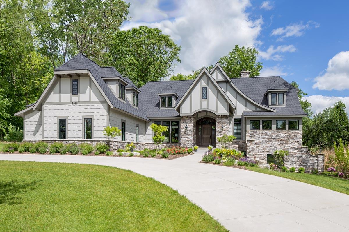 Tudor House Plan with Optional Finished Lower Level ...