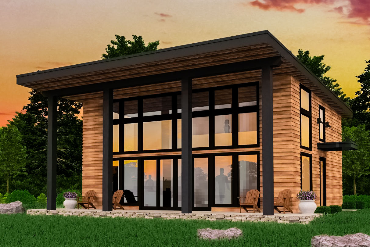 Modern 2-Bed Not-Too-Big House Plan - 85165MS ...