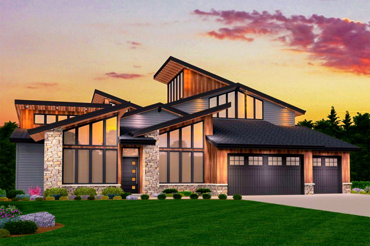 Smash Hit Modern House Plan With Two Master Suites